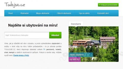 Portál pro všechny zájemce o dovolenou v České republice, zdroj: toulejse.cz